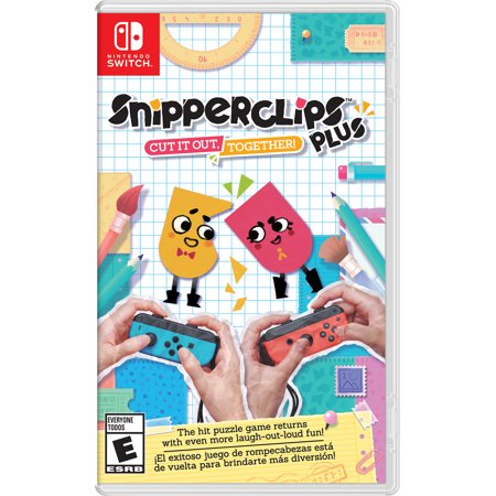 Snipperclips Plus: Cut it Out Together, Nintendo, Nintendo Switch, - T Rex Cut Out