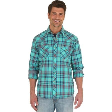 Wrangler Men's Retro Long Sleeve Western Shirt - Mvr340m
