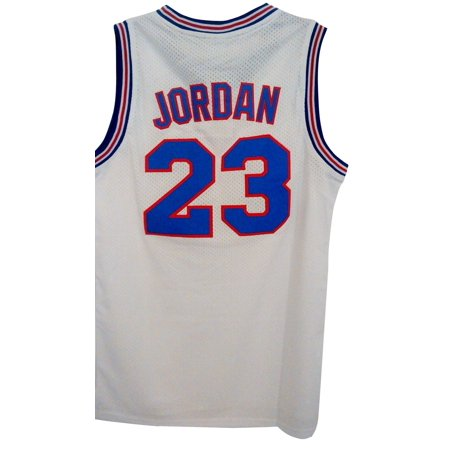 Michael Jordan Tune Squad Youth Basketball Jersey White Space Jam 23 Child Kids Childs Basketball Jersey