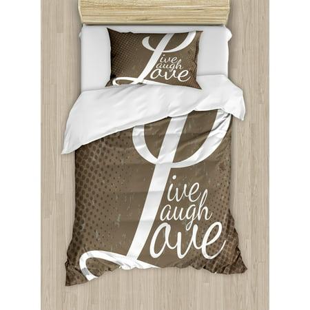 Live Laugh Love Duvet Cover Set Words Live Laugh Love On