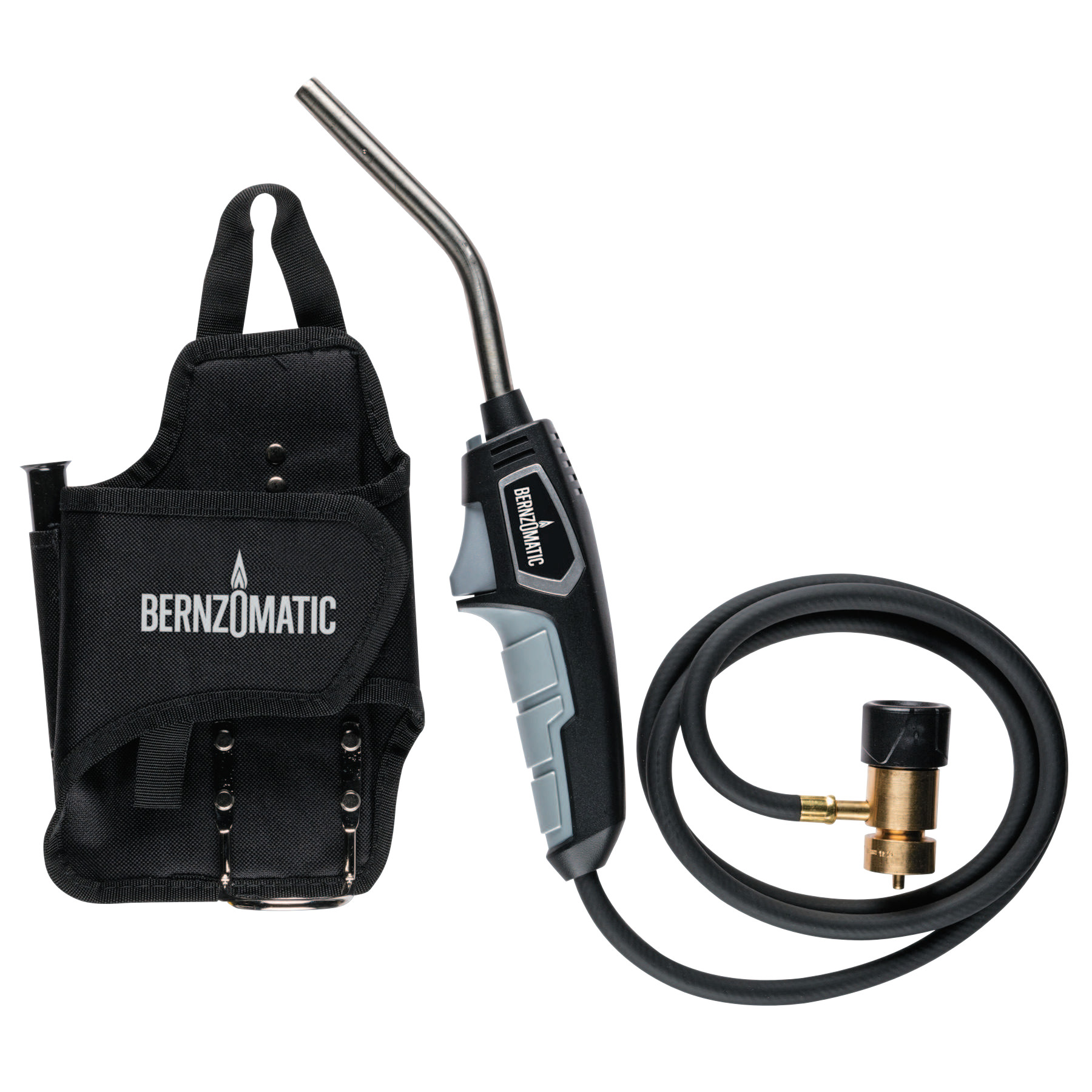 BernzOmatic Trigger-Start Hose Torches, Fat Boy Fuel Holster, Butane
