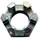 Slotted Hex Nut, 3/8-24, Zinc Plated
