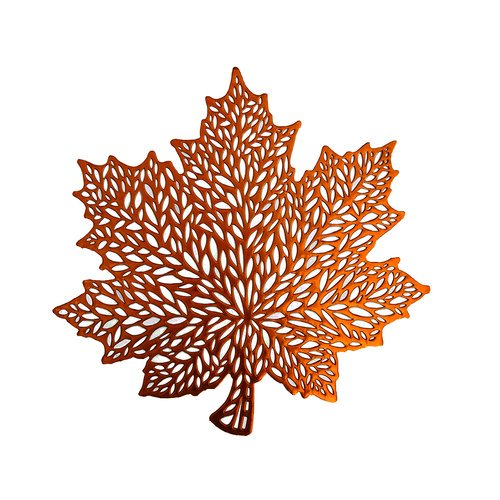 Mainstays New Leaf Pressed Vinyl Placemat Copper Walmart Com Walmart Com