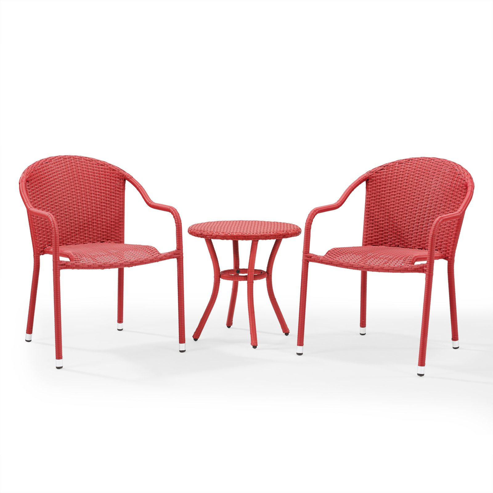 Crosley Palm Harbor Outdoor Wicker Cafe Seating Set, 3-Piece