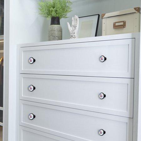 Ceramic European Modern Knobs Handle Cupboard Wardrobe Kitchen Cabinet 8pcs #2 - image 6 of 7