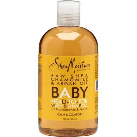 SheaMoisture Baby Body Wash and Shampoo for sensitive baby skin Chamomile and Argan Oil suitable for all skin types 13 oz ()