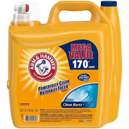 Arm & Hammer Clean Burst Laundry Detergent, 255 fl oz