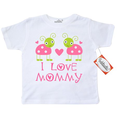 Inktastic I Love Mommy 1st Mothers Day ladybug Toddler T-Shirt babys baby pink cute holiday first heart tees. gift child preschooler kid clothing apparel hws](Kids Holiday Clothing)