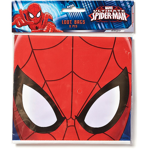 Spider-Man Party Favor Treat Bags, 8ct