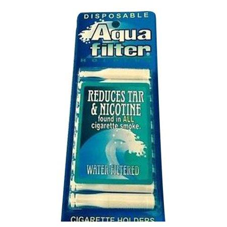 Aqua Filter, Nicotine & Tar Filtered Disposable Cigarette Holders - 10 ea - Cigareete Holder