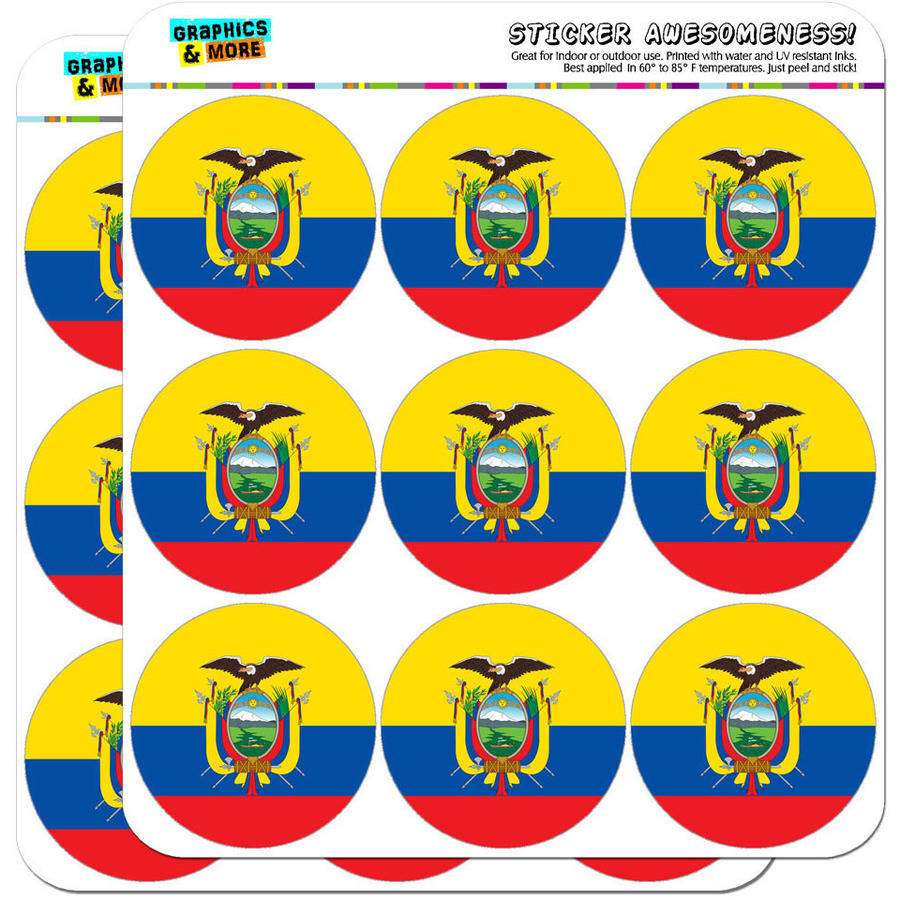 "Ecuador National Country Flag 18 2"" Planner Calendar Scrapbooking Crafting Stickers"