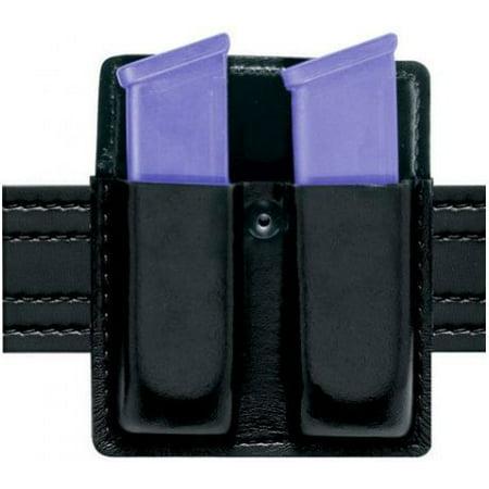 Safariland 75 Double Mag Pouch Without Flaps - Plain Black, Ambidextrous ()