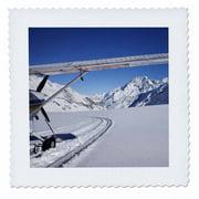 3dRose Ski Plane, Tasman Glacier, South Island, New Zealand-AU02 DWA4204 - David Wall - Quilt Square, 12 by 12-inch