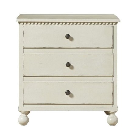 Beaumont lane 3 drawer nightstand in summer white for Q furniture beaumont