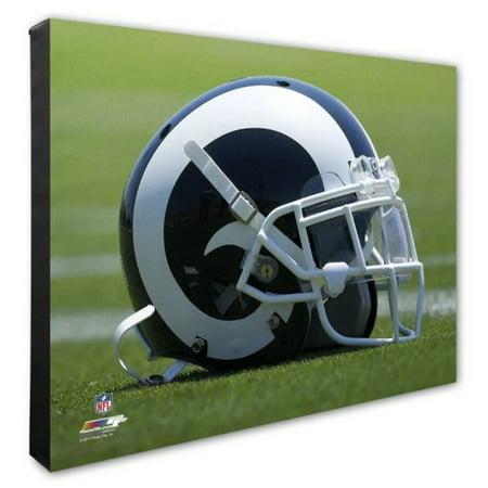 Nfl Hand Signed 16x20 Photograph - Photo File Los Angeles Rams Team Helmet Canvas Print Picture Artwork 16x20 NFL