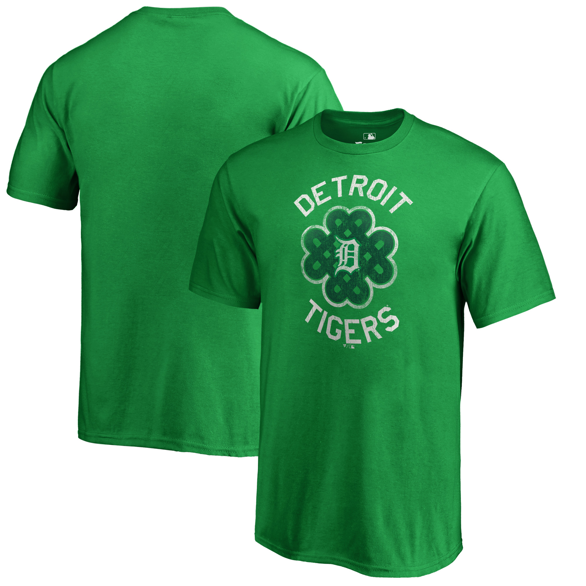 Detroit Tigers Fanatics Branded Youth St. Patrick's Day Luck Tradition T-Shirt - Kelly Green