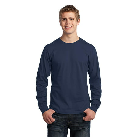 Port & Company® - Long Sleeve Core Cotton Tee. Pc54ls Navy 2Xl - image 1 of 1