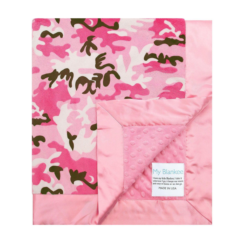 My Blankee Pink Camouflage W/ Minky Dot Back W/ Flat Sati...