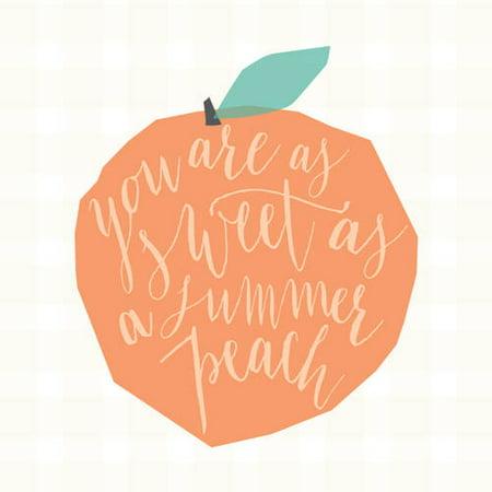 Oopsy Daisy - Canvas Wall Art Sweet As A Summer Peach 21x21 By Stacy (Sweet Peach)