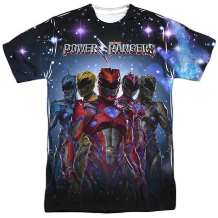 Power Rangers Power Surge Mens Sublimation Polyester Shirt (Power Rangers Suits)