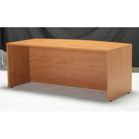 Agility Bow Front Desk Shell (Aspen, Brushed Chrome) Executive Straight Front Desk
