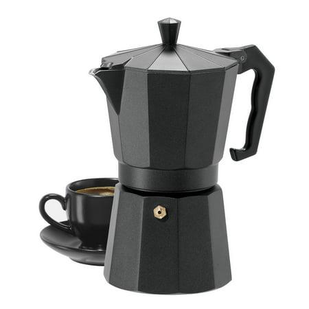 - 6 Cup Cast Aluminum Stovetop Espresso Maker