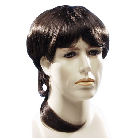 Star Power Country Redneck Man Mullet 90's Medium Length Wig, Brown, One Size - Early 90's Halloween Costumes