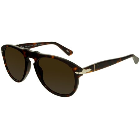 Persol Men's PO0649-24/57-52 Brown Oval Sunglasses