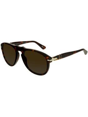 0e3114680279 Product Image Persol Men's PO0649-24/57-52 Brown Oval Sunglasses
