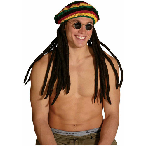 The Original Rasta Tam with Dreads Adult Halloween Accessory