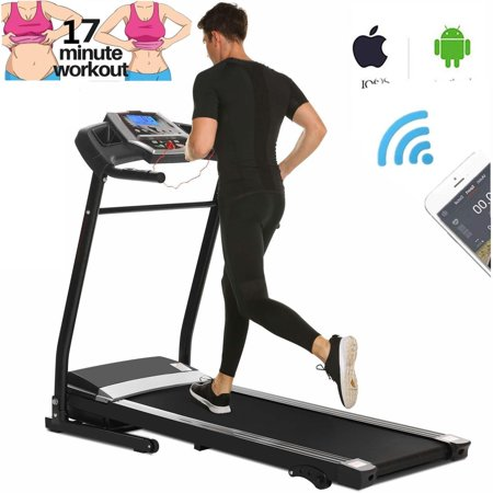 Folding Electric Jogging Treadmill with Smartphone APP Control, Power Motorized Fitness Walking Running Machine Exercise Trainer Equipment,incline(US (Best Ear Training App 2019)