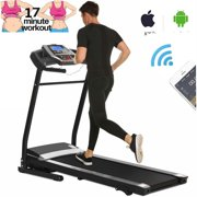 Folding Electric Jogging Treadmill with Smartphone APP Control, Power Motorized Fitness Walking Running Machine Exercise Trainer Equipment,inclineUS Stock