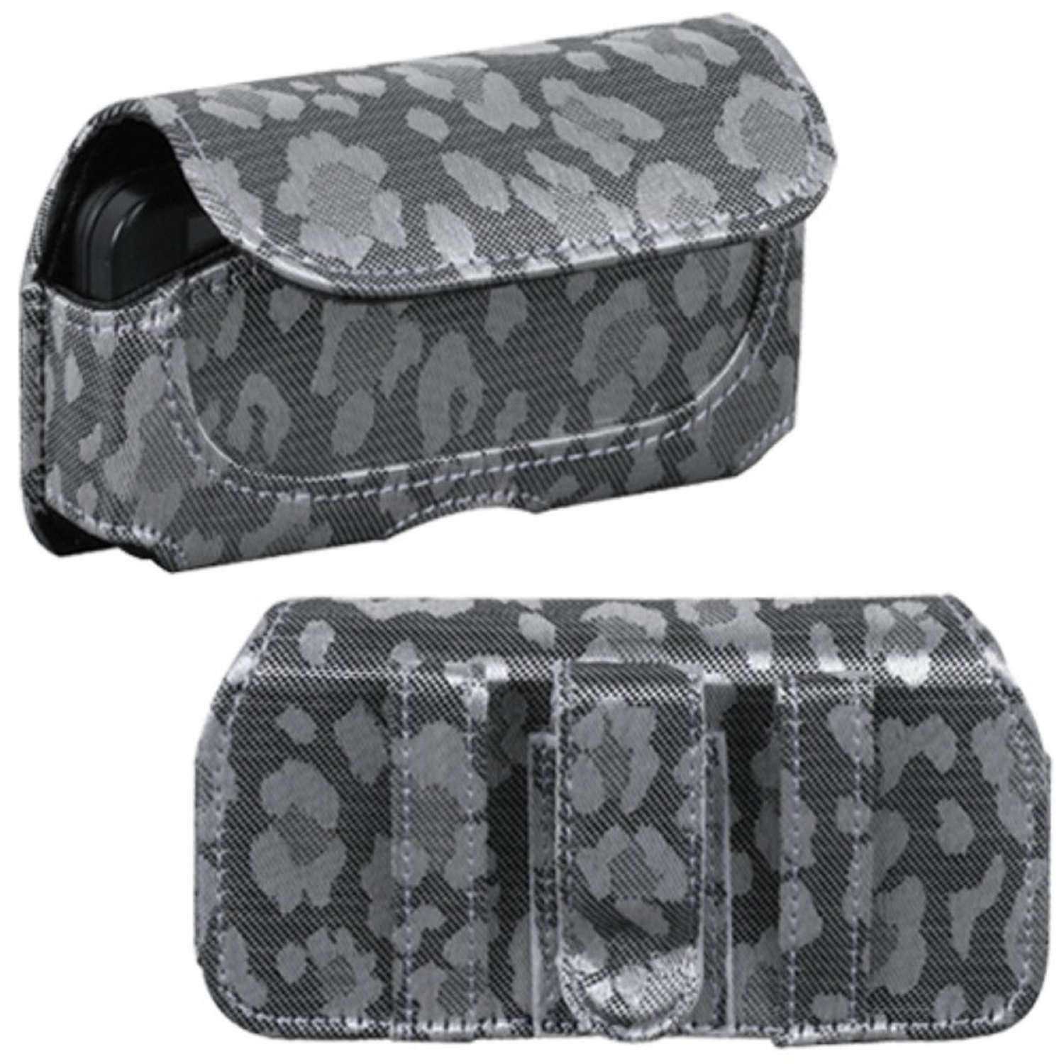 Insten Horizontal Pouch Case (723503)(Silver & Gray Watermark) (NO Package) for SAMSUNG: M850 (Instinct HD); HTC: G1