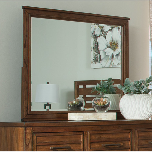 Loon Peak Rectangle Wood Mirror