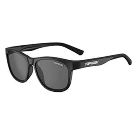 Tifosi Core Polarized Sunglasses - Tifosi Swank Satin Black Sunglasses - Smoke Polarized