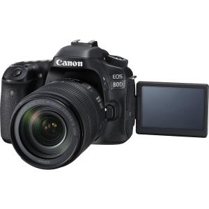 Canon Black EOS 80D Digital SLR Camera with 24.2 Megapixels and 18-135mm Lens Included by Canon