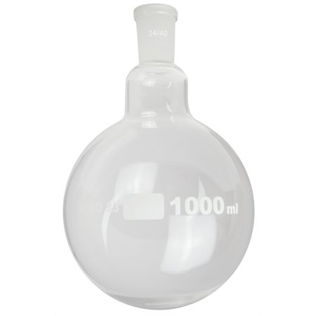 GSC International FRB1000-24-40 Round Bottom Boiling Flask with a 24/40 Ground Glass Joint - 1000ml Capacity