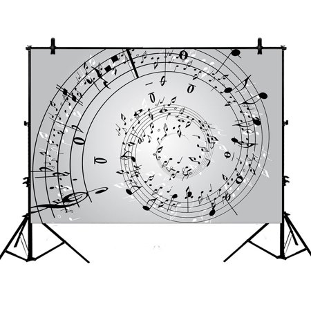 GCKG 7x5ft Music Note Wall Music Melody Polyester Photography Backdrop Photography Props Studio Photo Booth Props - image 4 de 4