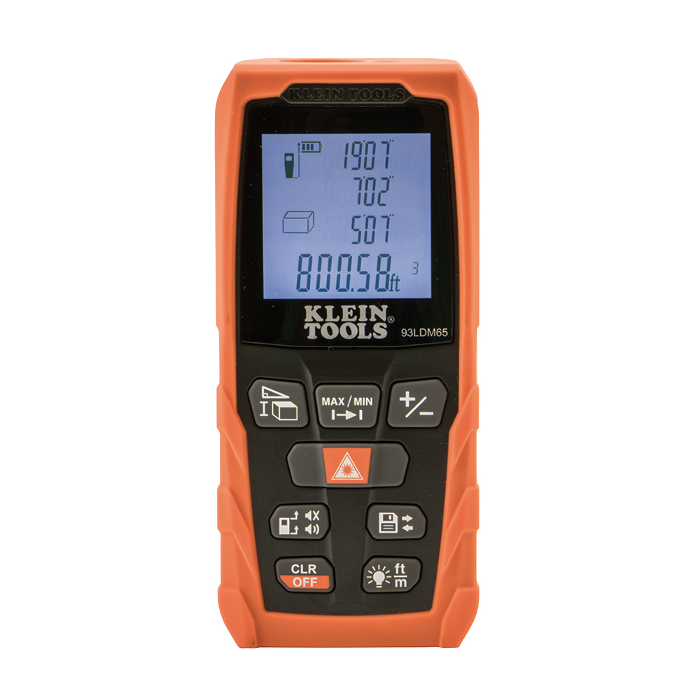 Klein Tools 93LDM65 Laser Distance Measurer, 65-Foot