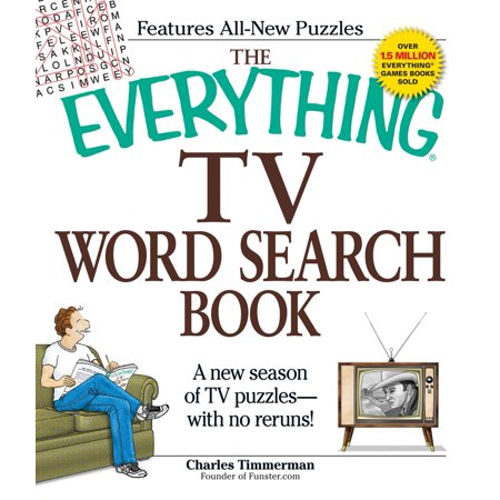 The Everything TV Word Search Book : A new season of TV puzzles - with no reruns! - French Word Search For Halloween