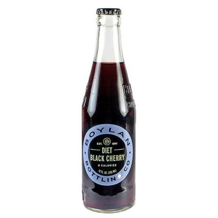 (3 Pack) Boylan Diet Black Cherry Soda, 12 oz