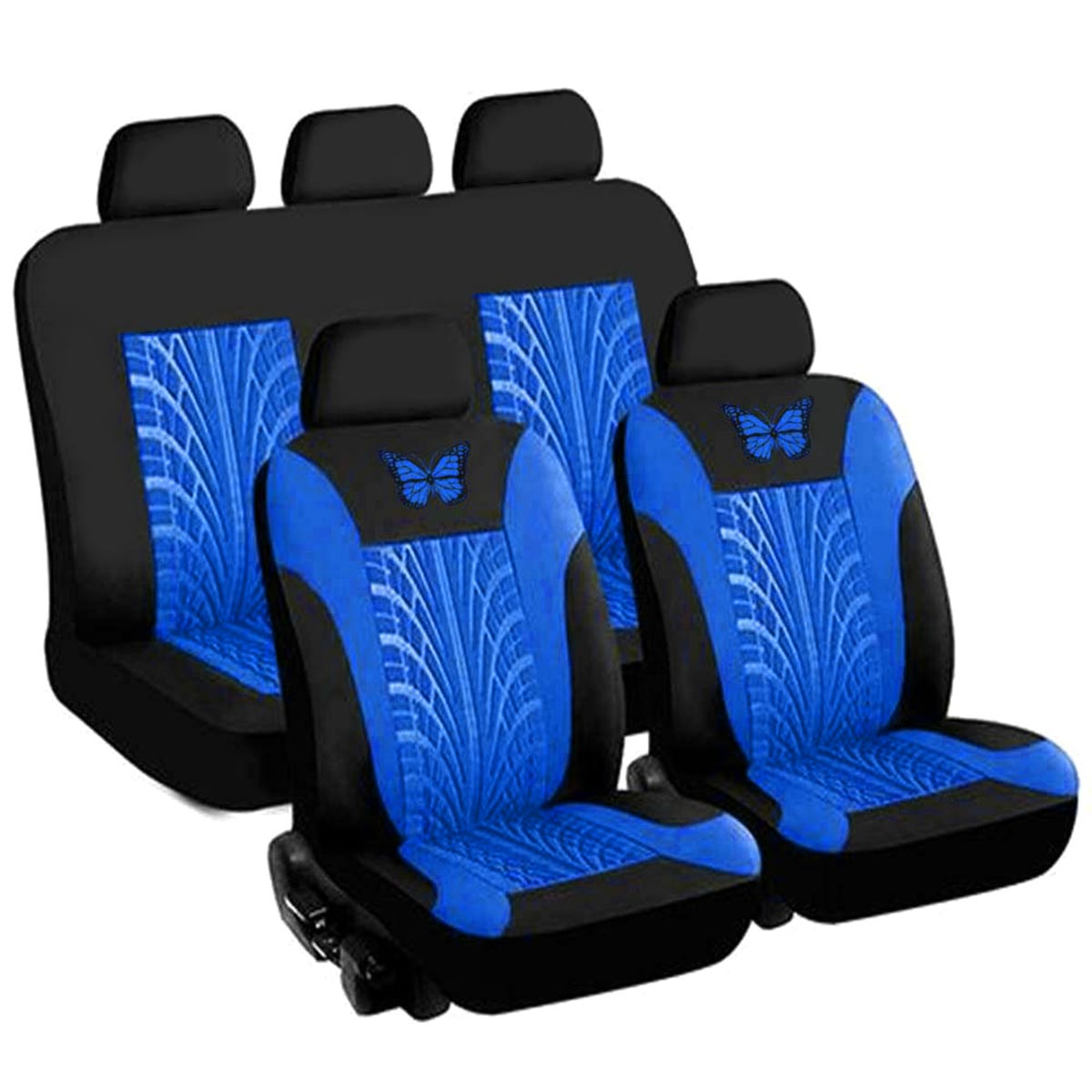 Universal Car Seat Back Bench Cover Combo Front /& Rear Full Set Protector