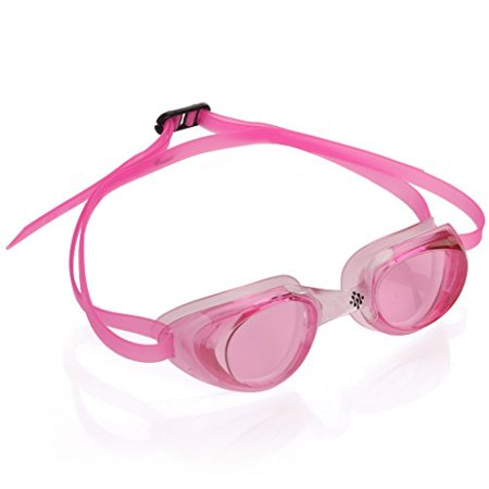 Goggles - Swimming Goggles - Water sport Racing Goggles - UV Protection, Anty-Fog, Quick Adjusting Silicone Head Strap - Pink