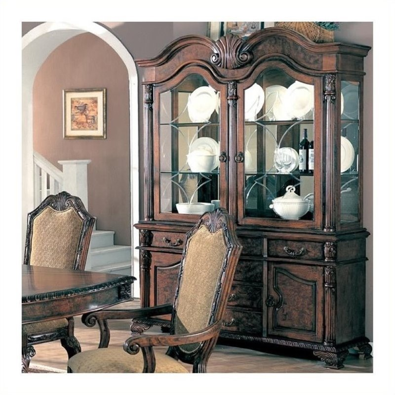 Bowery Hill China Cabinet in Deep Brown by Bowery Hill