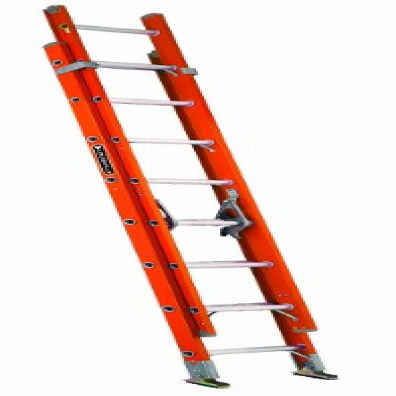 Louisville FE3224 Fiberglass Extension Ladder 300-Pound C...
