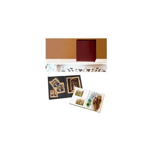 Leather Album Designs PD26091114610B Peel And Stick Self Mount 11X14 Burgandy Faux Leather Album 10 Pg - 20 Sides