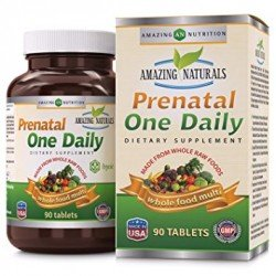 Amazing Naturals Prenatal One Daily Whole Food Multivitamin - 90 Tablets
