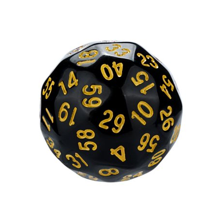 Acrylic Dice Barbells (1Pcs Game Dungeons & Dragons Polyhedral D60 Multi Sided Acrylic Dice )