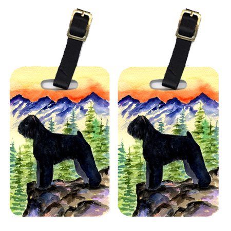 Pair of 2 Bouvier des Flandres Luggage Tags