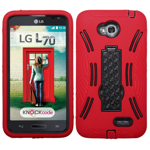 For VS450PP Optimus Exceed 2, MS323 L70 Black/Red Symbiosis Stand Case Cover